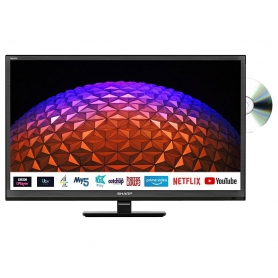 "Sharp 1T-C24BE0KR1FB 24"" HD Ready Smart Television with Built In DVD Player"