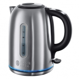Russell Hobbs 20460 Buckingham Quiet Boil Kettle, 3000 W, 1.7 Litre, Brushed Stainless Steel
