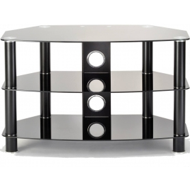 TTAP Vantage 600 Black Glass TV Stand