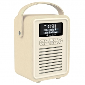 View Quest Retro Mini DAB Radio Bluetooth - Color: Cream