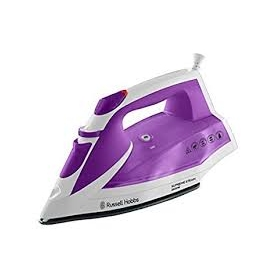 Russell Hobbs Supreme Steam Traditional Iron 23041, 2400 W - White/Pink